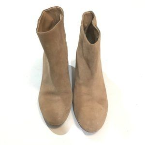 Banana republic tan suede leather booties 8